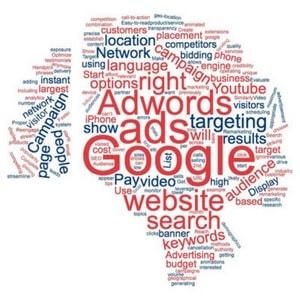 keywords word cloud for google adwords