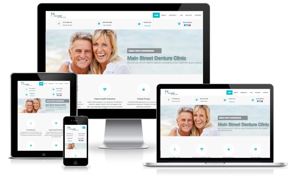main street denture clinic website